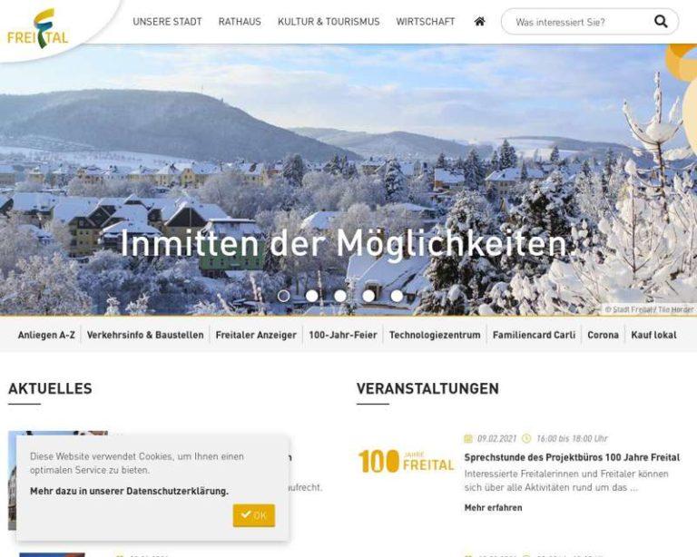 Screenshot (middle) http://www.freital.de