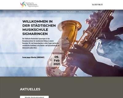 Screenshot (small) http://www.musikschule-sigmaringen.de
