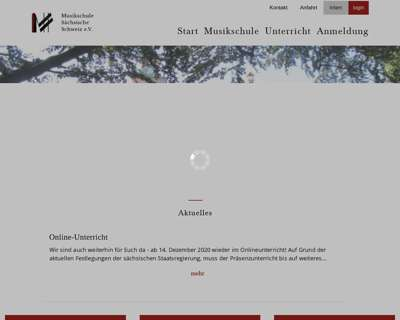 Screenshot (small) http://www.musikschule-saechsische-schweiz.de
