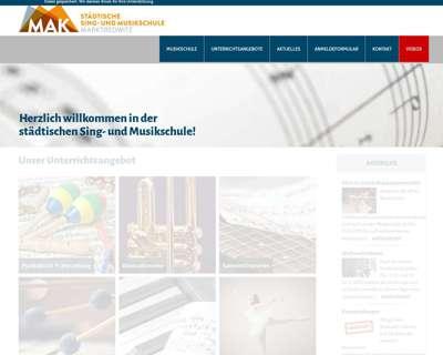Screenshot (small) http://www.musikschule-marktredwitz.de