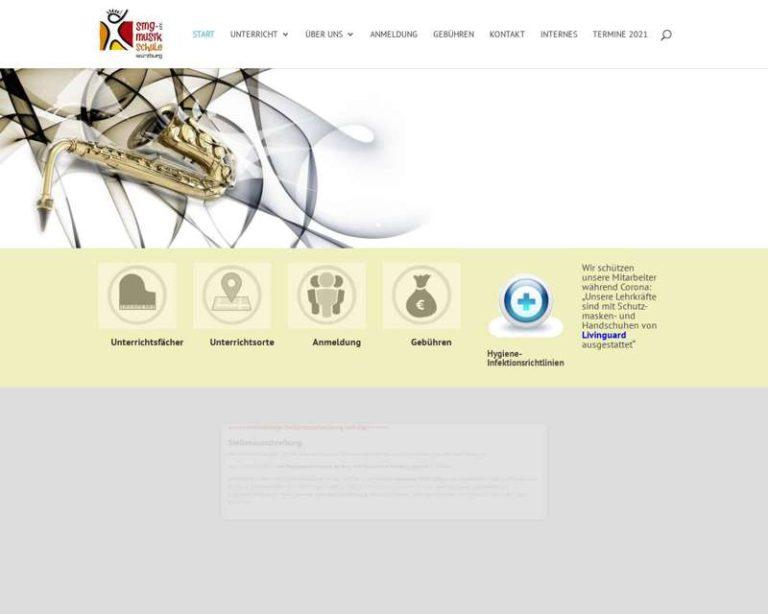Screenshot (middle) http://www.musikschule-wuerzburg.de