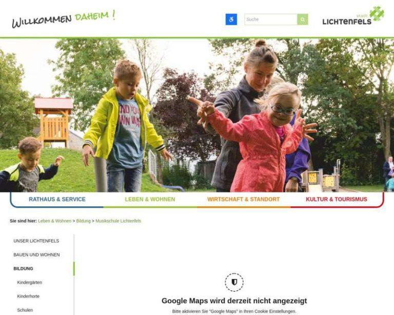 Screenshot (middle) http://www.Musikschule-Lichtenfels.de