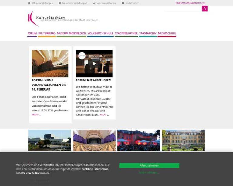 Screenshot (middle) http://www.KulturstadtLev.de