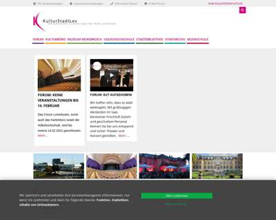 Screenshot (small) http://www.KulturstadtLev.de