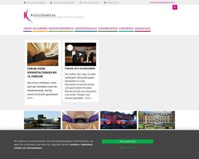 Screenshot (small) http://www.KulturstadtLev.de