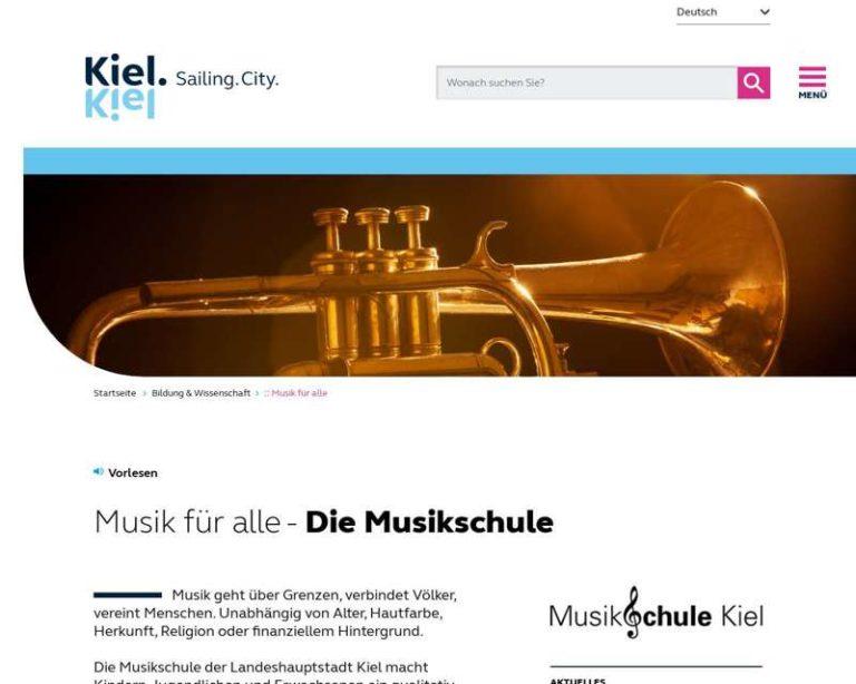 Screenshot (middle) http://www.musikschule-kiel.de