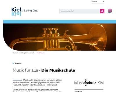 Screenshot (small) http://www.musikschule-kiel.de