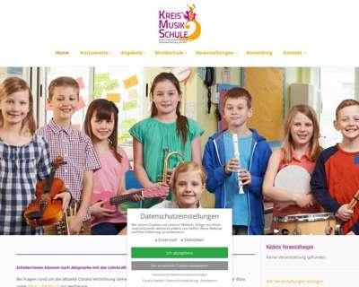 Screenshot (small) http://www.die-kreismusikschule.de