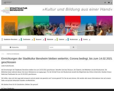 Screenshot (small) http://www.stadtkultur-bensheim.de