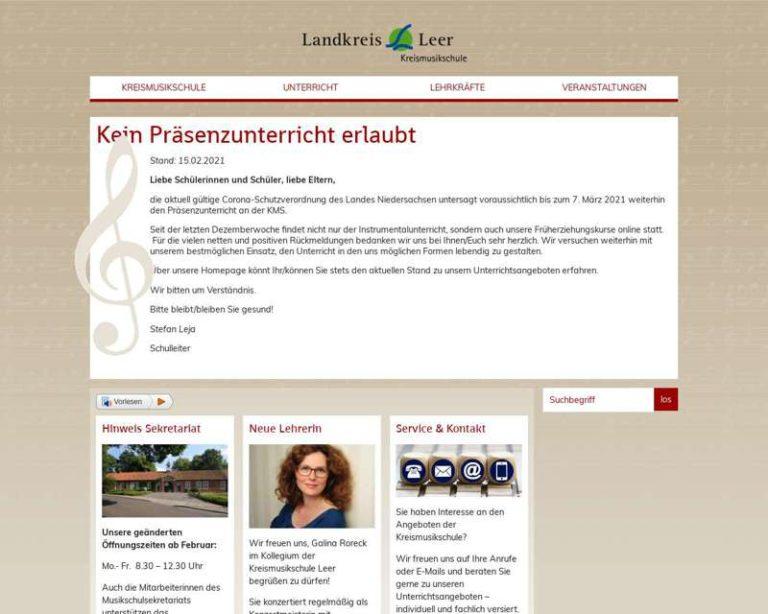 Screenshot (middle) http://www.kms-leer.de