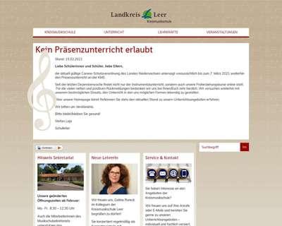 Screenshot (small) http://www.kms-leer.de