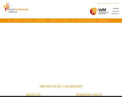 Screenshot (small) http://www.kreismusikschule-gifhorn.de