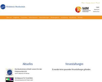 Screenshot (small) http://www.heidekreis-musikschule.de