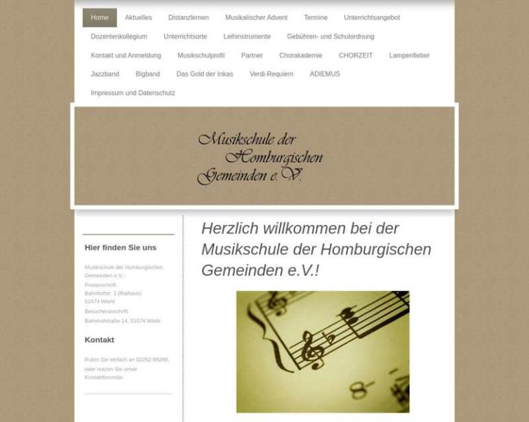 Screenshot (middle) http://www.mdhg.de