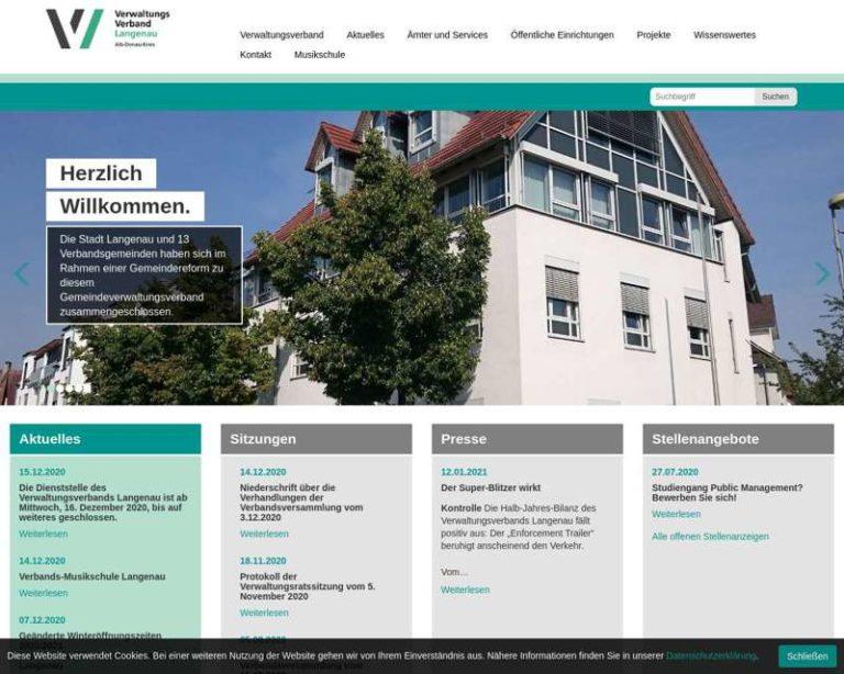 Screenshot (middle) http://www.vv-Langenau.de