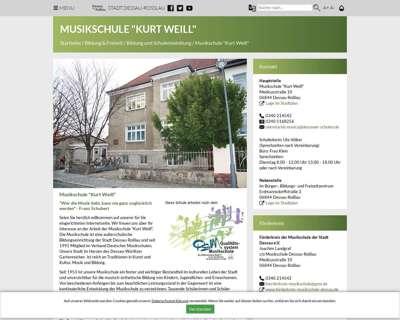 Screenshot (small) http://verwaltung.dessau-rosslau.de/sport-freizeit/schulen/musikschule-kurt-weill.html