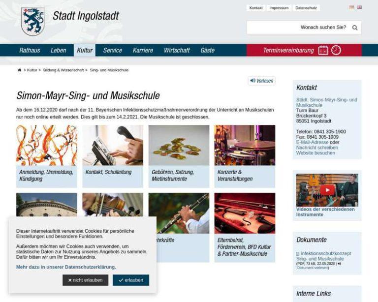 Screenshot (middle) http://www.musikschule.ingolstadt.de