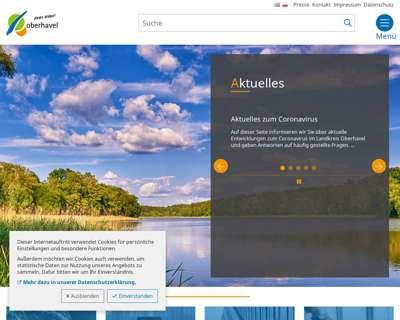 Screenshot (small) http://www.oberhavel.de