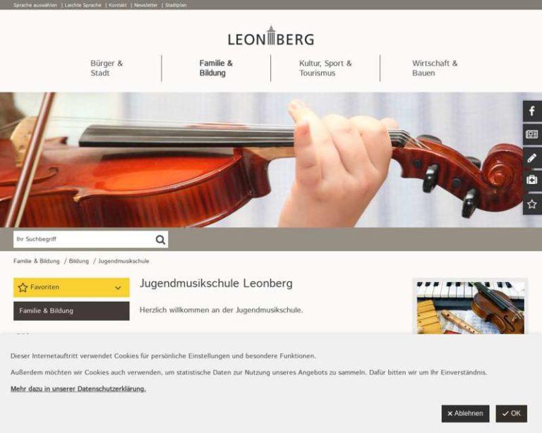 Screenshot (middle) http://www.jugendmusikschule-leonberg.de