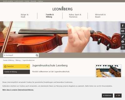 Screenshot (small) http://www.jugendmusikschule-leonberg.de