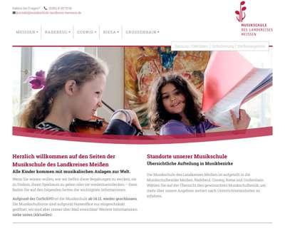 Screenshot (small) http://www.musikschule-landkreis-meissen.de