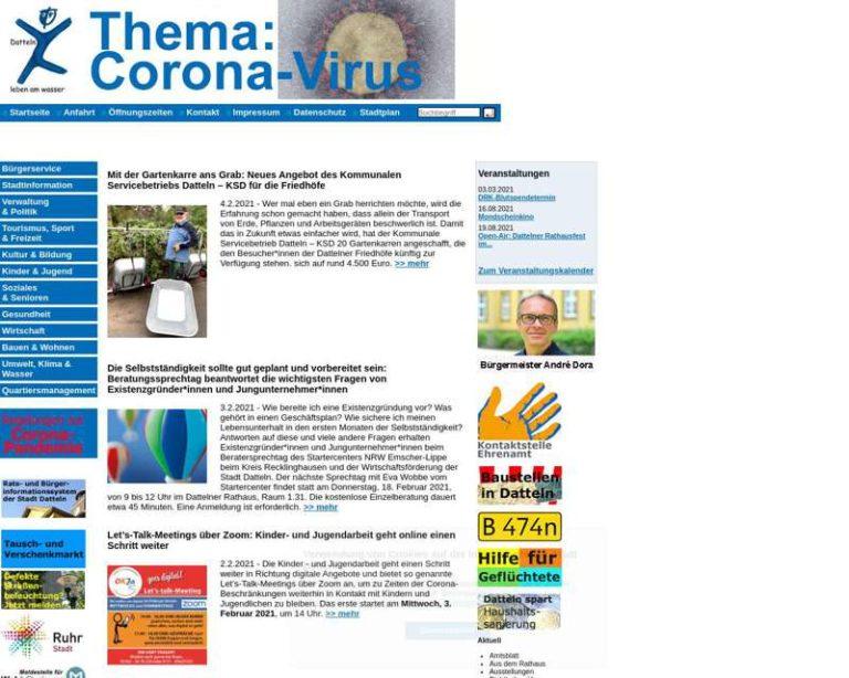 Screenshot (middle) http://www.datteln.de