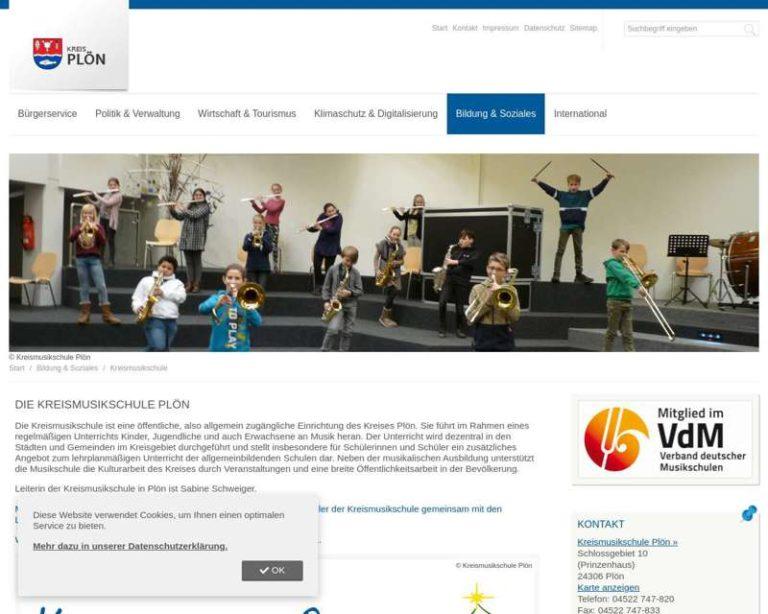 Screenshot (middle) http://www.kms-ploen.de