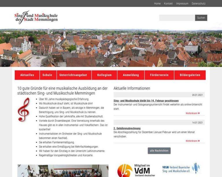 Screenshot (middle) http://www.musik.memmingen.de