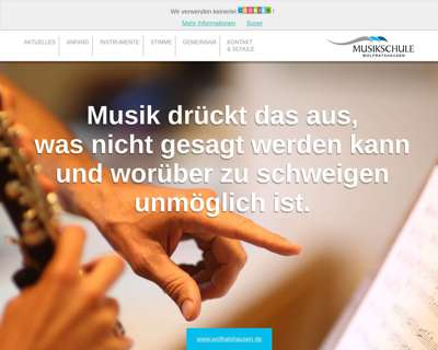 Screenshot (small) http://musikschule.wolfratshausen.de