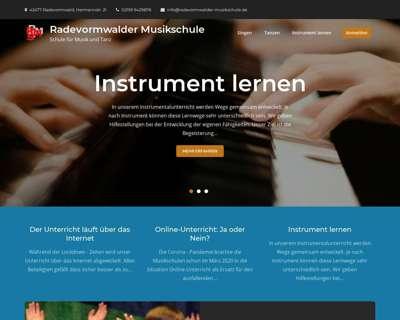 Screenshot (small) http://www.radevormwalder-musikschule.de/