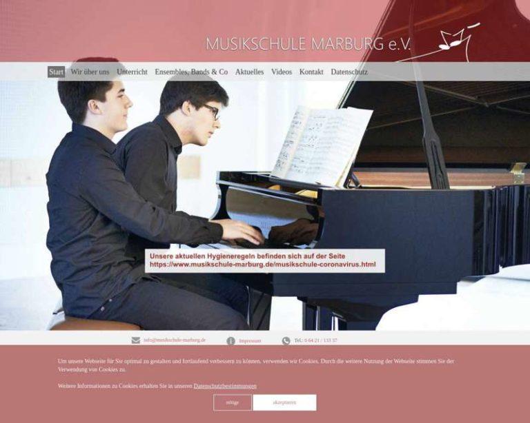Screenshot (middle) http://www.musikschule-marburg.de