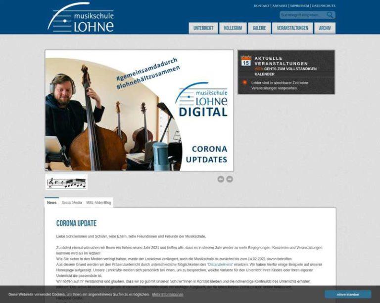 Screenshot (middle) http://www.musikschule-lohne.de