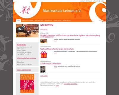 Screenshot (small) http://www.musikschule-leimen.de