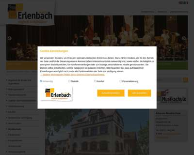 Screenshot (small) http://www.musikschule-stadt-erlenbach.de