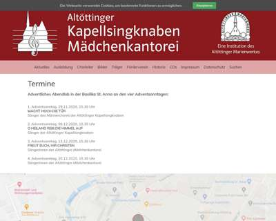 Screenshot (small) http://www.kapellsingknaben.de