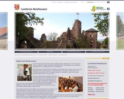 Screenshot (small) http://www.kreismusikschule-nordhausen.de