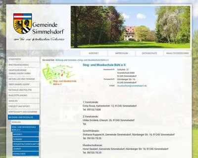 Screenshot (small) http://www.simmelsdorf.de/Sing-und-Musikschule-Buehl-e.V.
