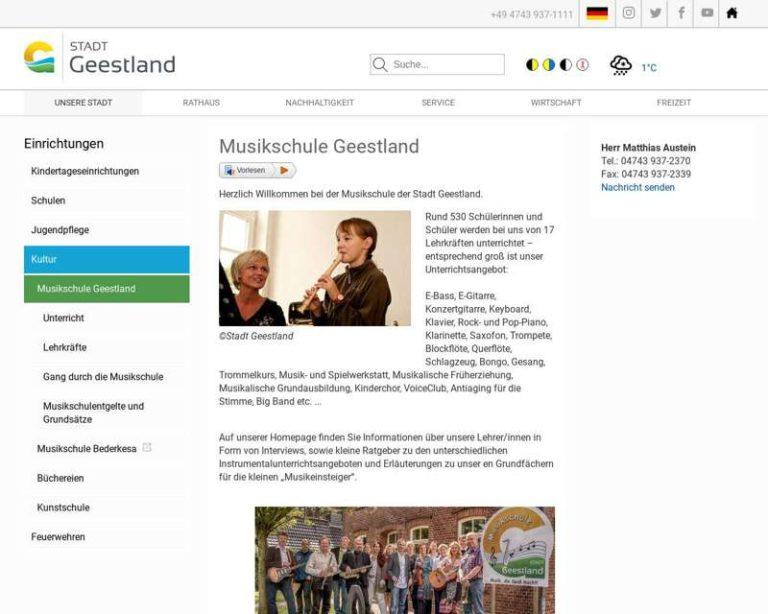Screenshot (middle) http://www.geestland.eu/musikschule