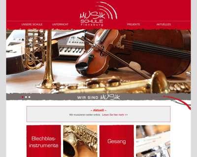 Screenshot (small) http://www.musikschule-flensburg.de