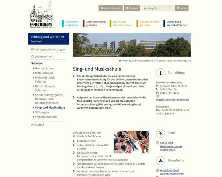Screenshot (middle) http://www.forchheim.de/musikschule
