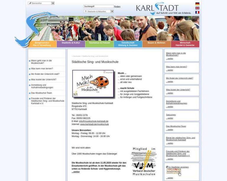 Screenshot (middle) http://www.karlstadt.de/musikschule