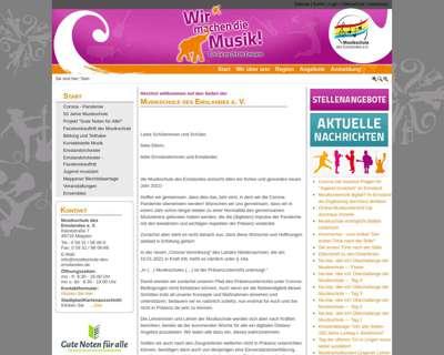 Screenshot (small) http://www.musikschule-des-emslandes.de