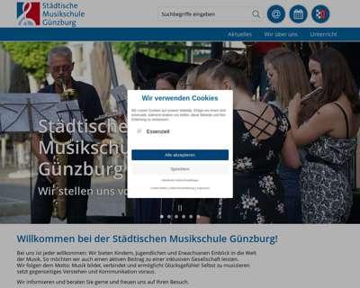 Screenshot (small) http://www.musikschule-guenzburg.de/