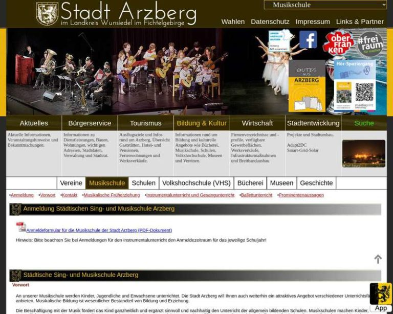 Screenshot (middle) http://arzberg.de/index.php?mobilemode=&sucheregional=&navi=36