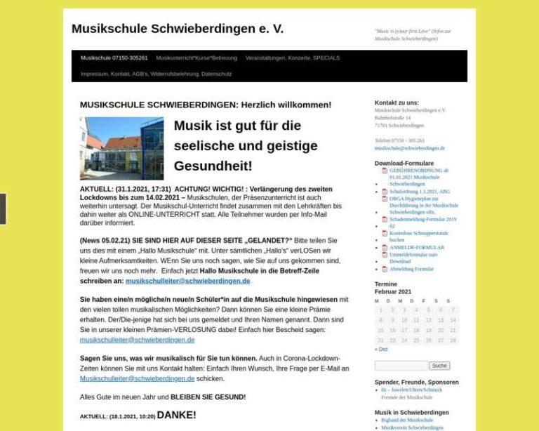 Screenshot (middle) http://www.musikschule-schwieberdingen.de