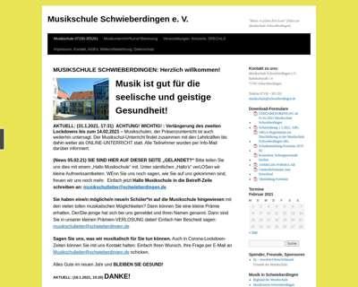 Screenshot (small) http://www.musikschule-schwieberdingen.de