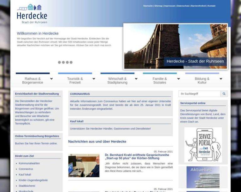 Screenshot (middle) http://www.herdecke.de