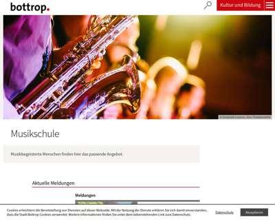 Screenshot (small) http://www.musikschule-bottrop.de