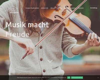 Screenshot (small) http://www.musikschule-moeckmuehl.de