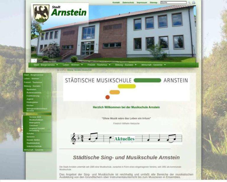 Screenshot (middle) http://www.musikschule-arnstein.de